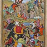 Persian miniature depicting Timur's campaign in India
