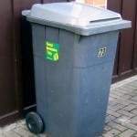 poubelle, wheelie bin