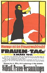 Poster for Women's Day, March 8, 1914: Those were the early years of a 'festival' that started as a Socialist political event
