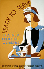 A1939 poster of a uniformed American maid