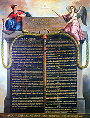 The French Declaration of the Rights of Man and of the Citizen, whose principles still have constitutional value