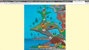 Haiti, painting, art, Prefete Duffaut, Port au Prince, slum