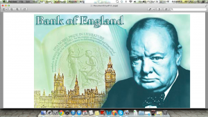 Winston Churchill, Bank of England, fiver