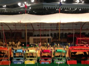 The miniature is the life's work of circus historian and model builder Howard C. Tibbals, who began constructing it in 1956