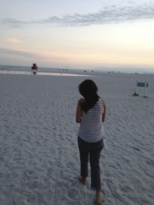 siesta key - a brief moment on the beach