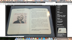 Marilyn Monroe's passport photo was pretty much like her