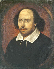 The 'Chandos' portrait of Shakespeare, named after the Dukes of Chandos who owned it before London's National Portrait Gallery. Its authenticity is disputed but it is believed to have been painted from life between 1600 and 1610