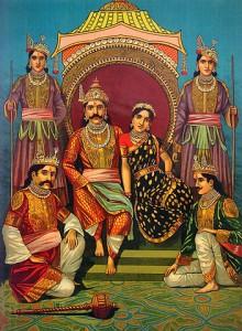 Draupadi and the Pandavas