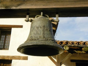 The bell at the Mission San Francisco Solano de Sonoma, at the northeast corner of Sonoma Plaza was founded in July1923 by Padre Jose Altimira of Spain