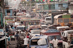 This is not a particularly recent photograph but traffic-clogged Port au Prince remains much the same