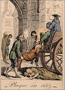 The Great Plague of London - the 17th century was marked by dirt and disease