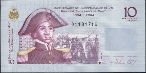 10 Haitian gourdes is roughly 25 cents