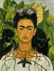 Frida Kahlo, Self-portrait with Thorn Necklace and Hummingbird