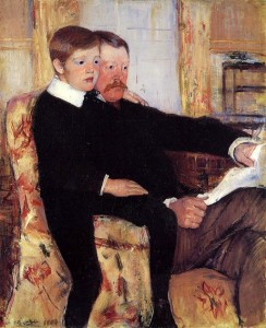 Mary Cassatt's portrait of her brother Alexander J Cassat and his son, Robert Kelso Cassatt