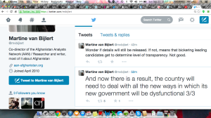 martine van bijlert tweet on new afghan govt