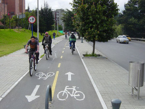 Cycle paths in Bogota