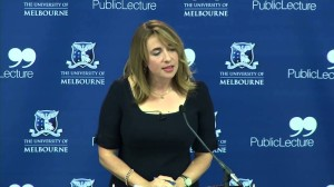 Katherine Viner, then editor of Guardian Australia, delivering the AN Smith lecture in Melbourne in 2013 on journalism in the age of the open web