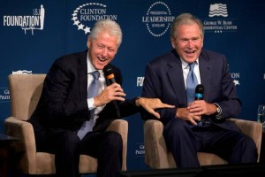 What's not to smile about?  Bill Clinton and George W Bush are either products of – or creating – political dynasties