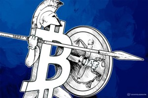Cointelegraph.com's depiction of Greece at a financial crossroads and how a practical solution could be Bitcoin