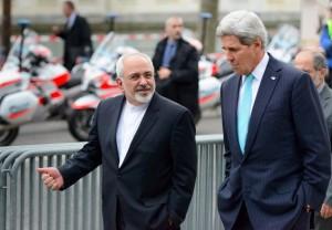 Mohammad Javad Zarif and John Kerry in Geneva