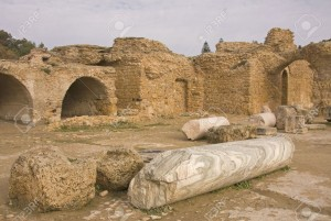 11121215-View-with-ruins-of-Carthage-Cartagena-in-Tunisia-Stock-Photo-carthage