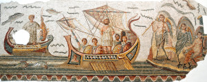 Ulysses, a mosaic at the Bardo Museum