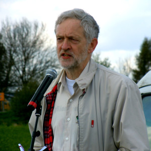 Jeremy Corbyn speaks at an anti-drones rally in April 2013