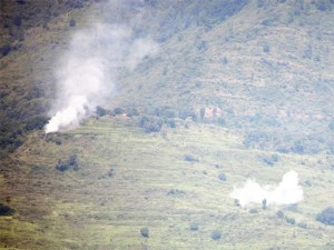 Alleged shelling by Indian troops