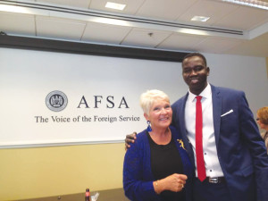 Gai Nyok with his foster American mother, Angela Will