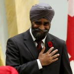 Canada's new defence minister Harjit Sajjan after being sworn in on November 4