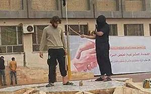 An Isil flogging in Derna, Libya