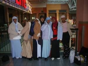 Somali girls celebrate Eid  at the Mall of America, Bloomington, MN