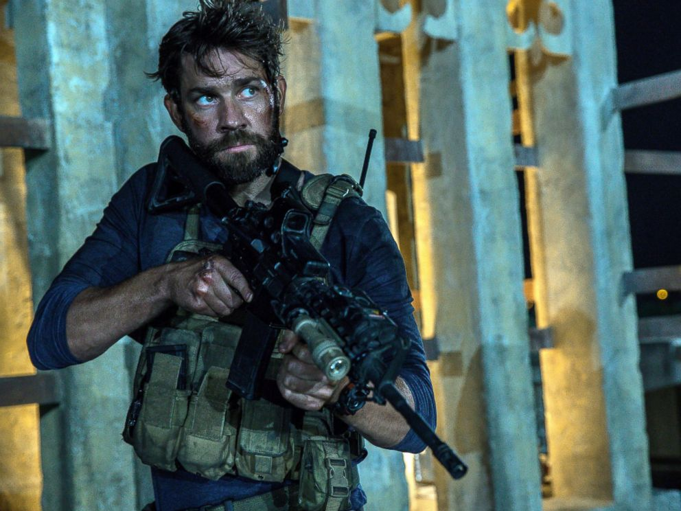 """John Krasinski in the film, """"13 Hours: The Secret Soldiers of Benghazi"""" from Paramount Pictures (Christian Black / Paramount Pictures via AP)"""