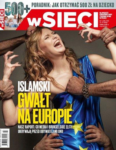 polish magazine cover on refugees