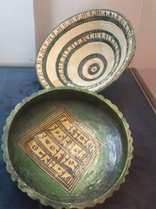 aghlabid pottery - note the green