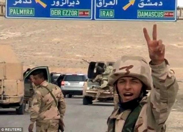syrian gains - palmyra