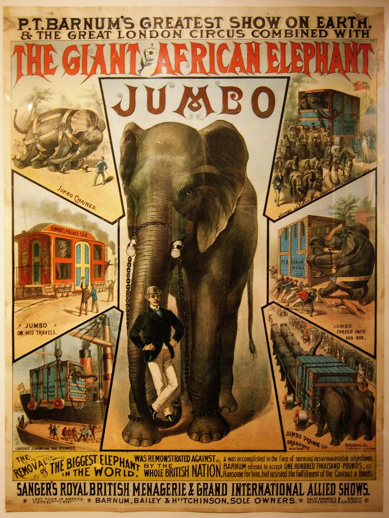 jumbo, the elephant poster