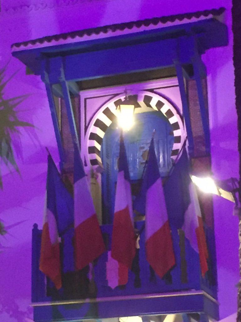 The resplendent entrance of the French Ambassador's grand residence in Tunis