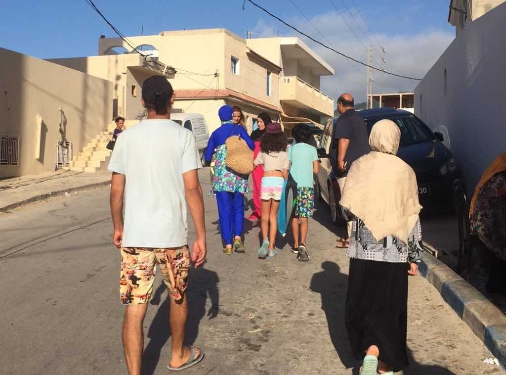 A burqini on the streets of Raf Raf, a beach town in Tunisia. Photo: Rashmee Roshan Lall