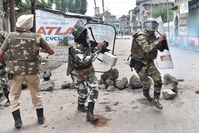 The BJP has indicated that it views as antinational any criticism of the administration's hardline approach to Kashmir's ongoing trauma. Sajjad Hussain / AFP