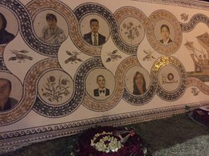 Commemorative mosaic outside the Bardo Museum in Tunis, which was attacked by terrorists in March 2015