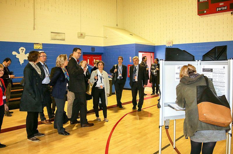 OSCE observers at a polling station in Washington, DC