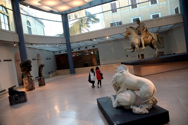 Visits to cultural attractions such as Rome's Capitoline Museum may help fight radicalisation. Filippo Monteforte / AFP