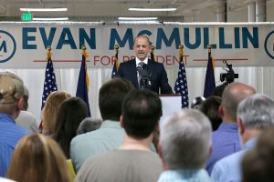 Evan McMullin in Salt Lake City,Utah