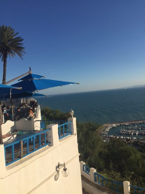 The view from Cafe Sidi Chebaane – beautiful but it doesn't come cheap. A citronade would set you back 8.50 dinar