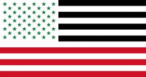 Karl Sharro's redesigned Arab-style flag for America