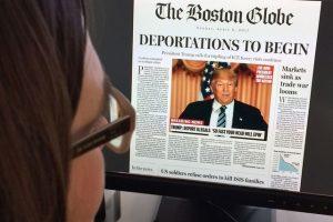 Donald Trump is big business for the media. Karen Bleier / AFP
