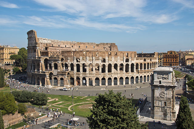 The Colosseum in ancient Rome